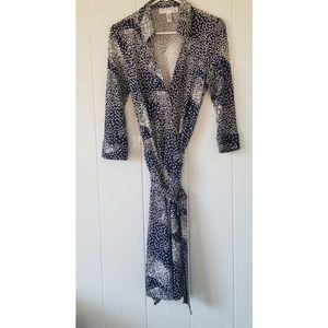 Diane von Furstenberg DVF Wrap Dress Silk Vintage
